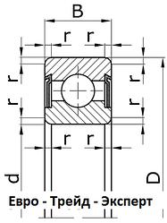 Подшипники шариковые радиальные однорядные с двумя защитными шайбами