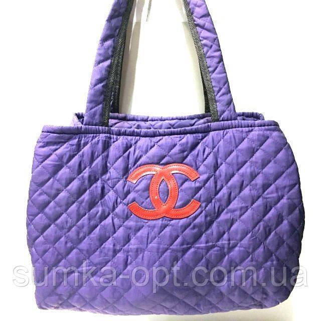 Стеганные женские сумки Chanel (синий+красный)27*51см