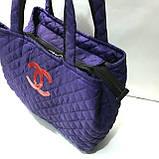 Стеганные женские сумки Chanel (синий+красный)27*51см, фото 2