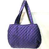 Стеганные женские сумки Chanel (синий+красный)27*51см, фото 3