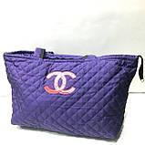Стеганные женские сумки Chanel (синий+красный)27*51см, фото 4