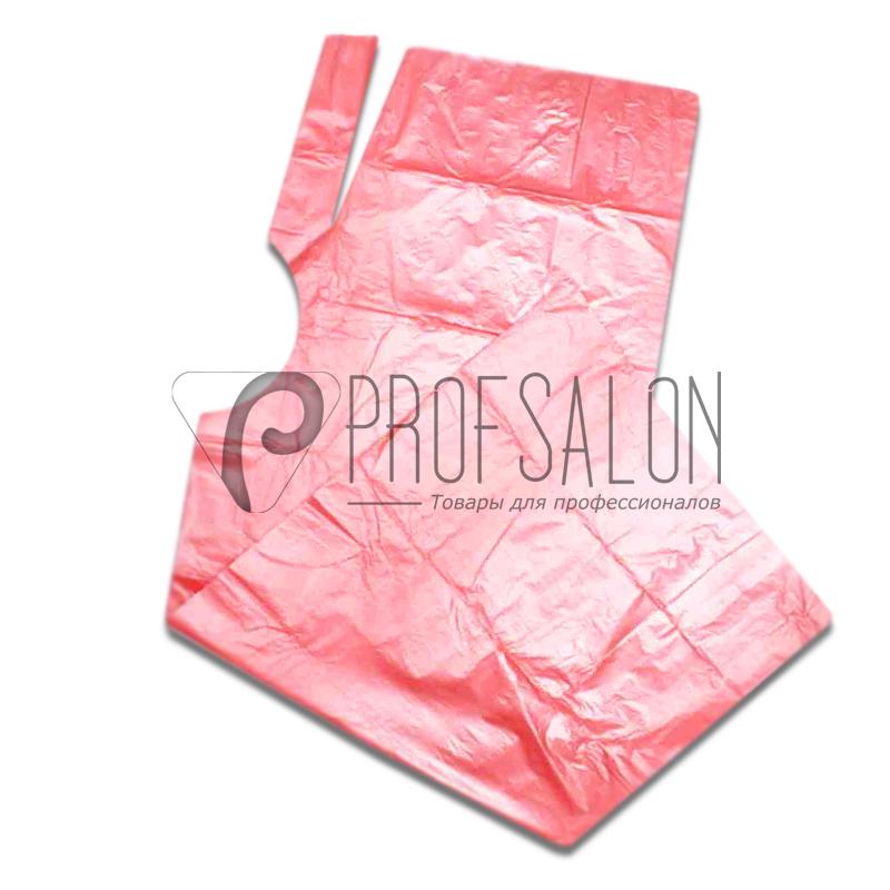 Пеньюар парикмахерский 0,9х1,6м, полиэтилен, 50 шт, розовые