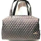 Женские стеганные вместительные сумки оптом (6 цветов)30*42см, фото 3