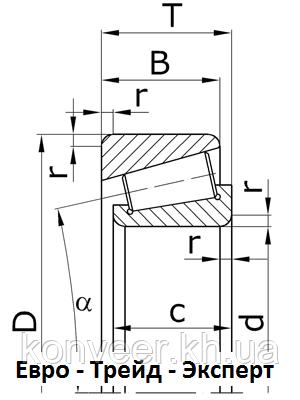 Подшипники роликовые конические однорядные повышенной грузоподъемности
