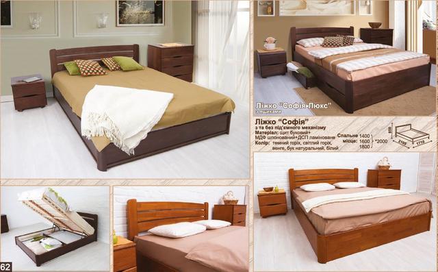 Кровать двуспальная София (характеристики)