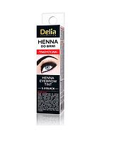 Краска для бровей - хна в порошке DELIA HENNA TRADITIONAL 1.0 – черная