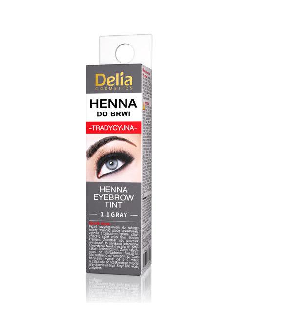 Краска для бровей - хна в порошке DELIA HENNA TRADITIONAL - 1.1 – графит