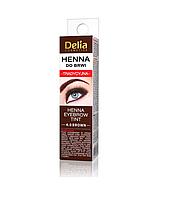 Краска для бровей - хна в порошке DELIA HENNA TRADITIONAL 4.0 – коричневая