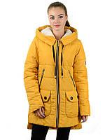 Женская зимняя парка IRVIC 903 44 Желтый, КОД: 259594