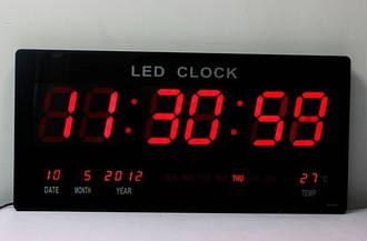 Часы настольные 3513 с синей подсветкой