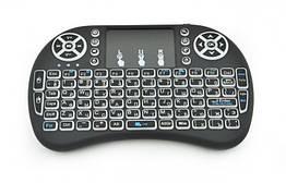 Беспроводная клавиатура с тачпадом Kronos Rii mini i8 2.4G Черный, КОД: 197765