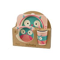 Набор детской посуды xiyibaby из бамбукового волокна 5 шт 5094-0002, КОД: 147136