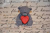 Мыло ручной работы Тедди с сердечком
