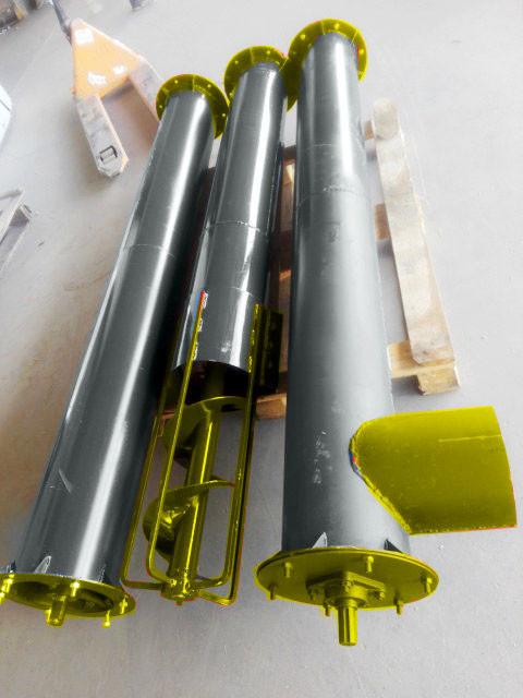 Шнек в сборе без двигателя диаметр 130 мм, длинна - 8 м