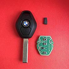 Ключ БМВ Bmw 3, 5, 7, x5 EWS чип PCF7935 ID 44 315Mhz / 433Mhz Лезвие HU92