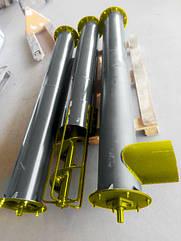 Шнек в сборе без двигателя диаметр -160 мм, длинна - 2 м