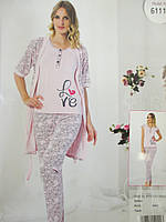 Турецкий набор халат с пижамой., фото 1
