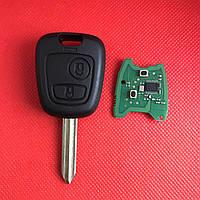 Ключ  Ситроен  Citroen   2 кнопки, с чипом ID46, PCF 7941, 433 Mhz, лезвие SX9