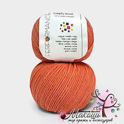 Пряжа Simply wool Performance Yarn (Болгария), №17, коралл
