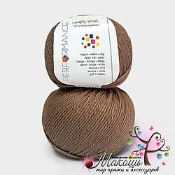 Пряжа Simply wool Performance Yarn (Болгария), №224, мокко