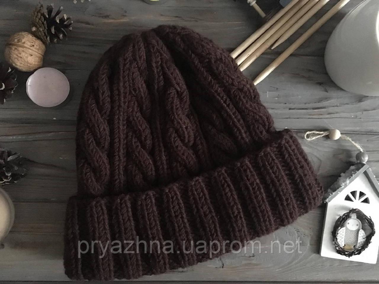 мужская вязаная шапка шерстяная зимняя шапка теплая вязаная