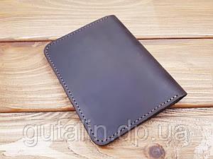 Обкладинка на паспорт з натуральної шкіри ручної роботи Італія колір: коричневий