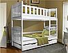 Кровать детская деревянная двухъярусная Модди