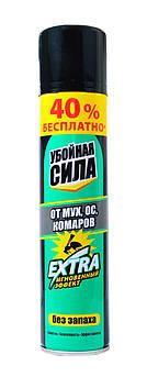 """Аэрозоль от мух, ос, комаров """"Убойная сила"""" Extra 280 мл"""