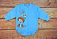 Теплый новогодний боди для мальчика Голубой начес, фото 2