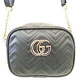 Брендові жіночі клатчі Gucci (золото)16*21см, фото 3