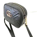 Брендові жіночі клатчі Gucci (золото)16*21см, фото 4
