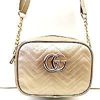 Брендові жіночі клатчі Gucci (золото)16*21см