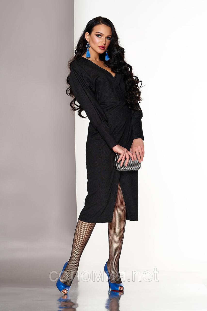 Вечернее платье-халат с глубоким вырезом  44-54р