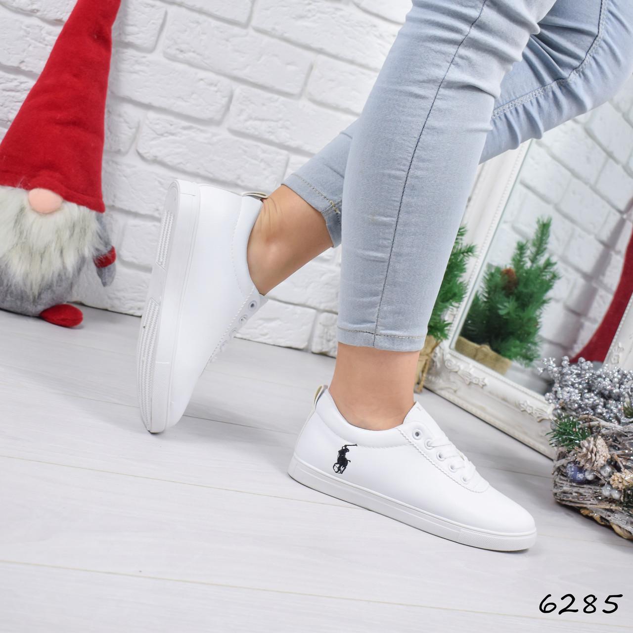 aa7dd318 Кеды женские Polo белые 6285, кеды женские осенняя обувь - Интернет -  магазин MaxTrade в