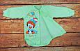 Детский новогодний боди теплый с начесом Зеленый, фото 3