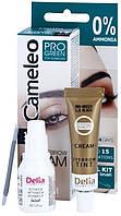 Крем-краска для бровей Delia CAMELEO - PRO-GREEN 4.0 коричневая. ( без аммиачная)