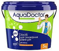Химия для бассейна pH минус AquaDoktor - 5 кг гранулы