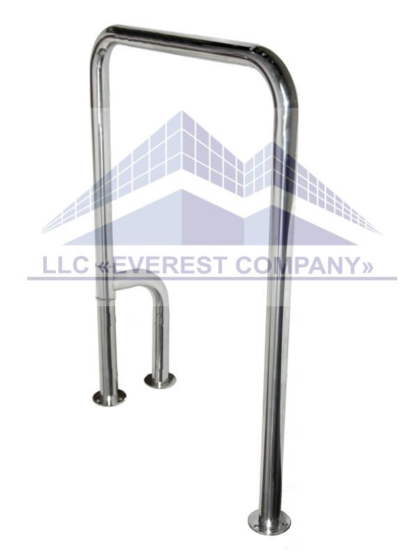 Поручень для инвалидов в туалет п-образный с поворотной ножкой 360°, Ø 32мм - 800х700мм