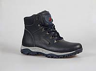 Мужские ботинки из натуральной кожи на меху, фото 1