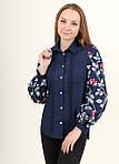 Рубашка из хлопка украшена вышивкой на рукавах, фото 2