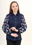 Рубашка из хлопка украшена вышивкой на рукавах, фото 3