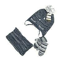 Шапка снуд перчатки Suve для 6 мес -2 года Синий TUR 007 star blue, КОД: 152811
