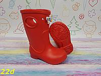 Дитячі гумові чоботи червоні непромокальні, фото 1