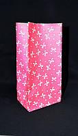 "Бумажный подарочный пакет ""Розовый бантик"" 190х95х65"