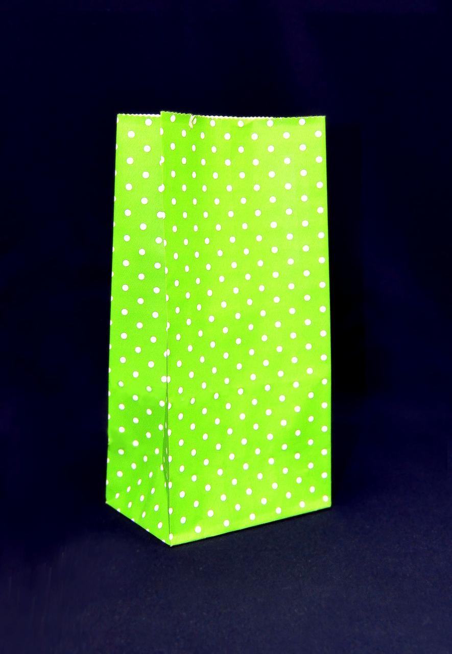 """Бумажный подарочный пакет """"Зеленый"""" 190х95х65"""