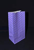 """Бумажный подарочный пакет """"Фиолетовый"""" 190х95х65"""