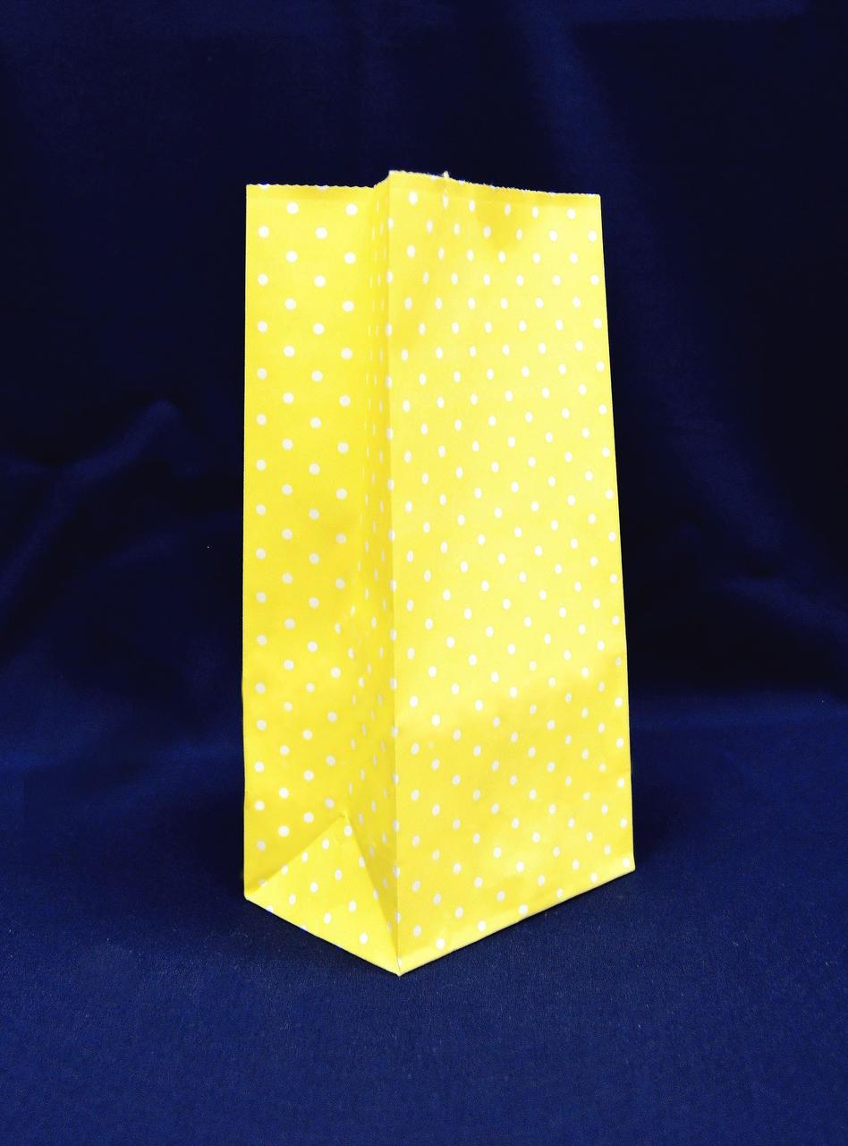 "Бумажный подарочный пакет ""Желтый"" 190х95х65"
