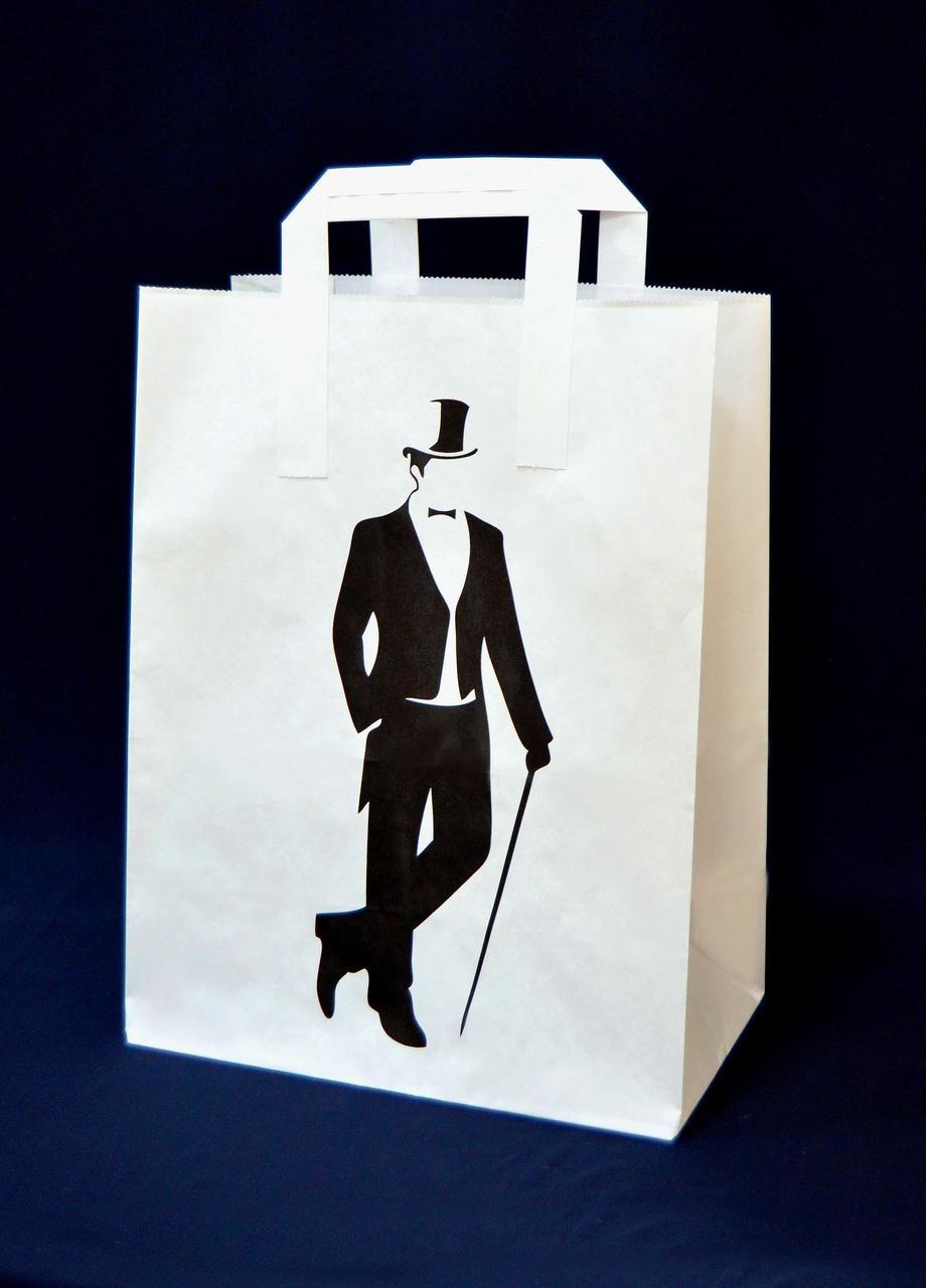 Подарочный бумажный пакет для мужчин