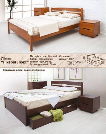 Кровать полуторная Ликерия Люкс с ящиками, фото 2