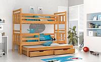 Кровать детская деревянная двуспальная Джосси с дополнительным выдвижным спальным местом, фото 1